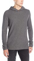 Vince Men's Racking Stitch Thermal Long Sleeve Sweater Hoodie