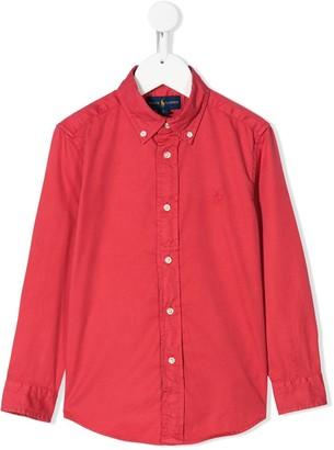 Ralph Lauren Kids buttoned collared shirt