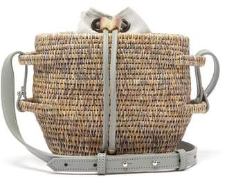 Khokho - Thembi Drawstring-top Basket Bag - Womens - Light Grey