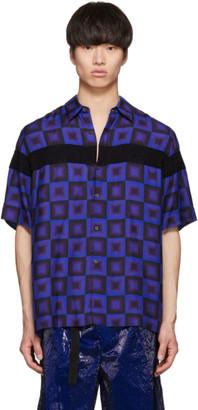 Dries Van Noten Blue Verner Panton Edition Beaded Clasen Shirt