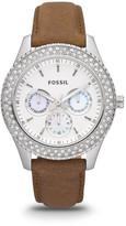 Fossil Stella Multifunction Leather Watch - Tan