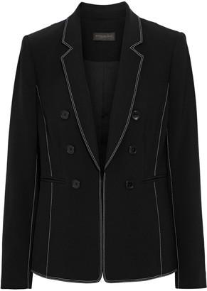 Donna Karan Button-embellished Crepe Blazer