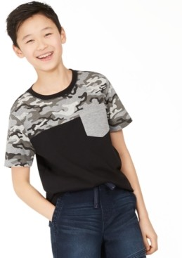 Epic Threads Big Boys Camo Colorblocked Pocket T-Shirt, Created for Macy's