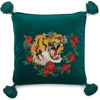 Gucci Tiger Embroidered Pillow