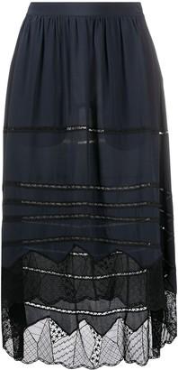 Zadig & Voltaire Joslin lace midi skirt
