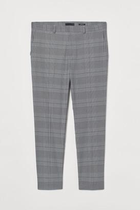 H&M Skinny Fit Suit Pants - Gray