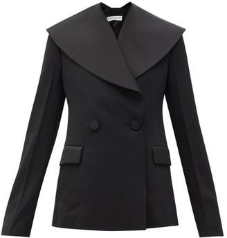 J.W.Anderson Shawl-lapel Double-breasted Wool-gabardine Jacket - Black