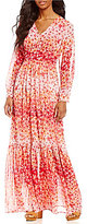 Calvin Klein Long-Sleeve Floral Boho Maxi Dress
