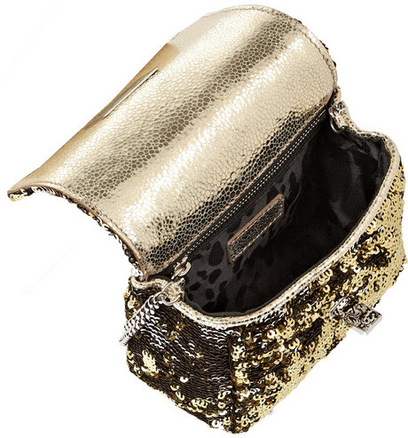 Jimmy Choo Ruby mini two-tone sequined shoulder bag