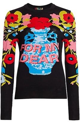 Libertine For My Dear Cashmere Blend Crewneck Sweater
