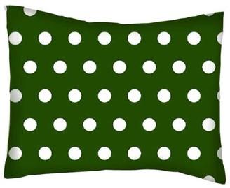 Sheetworld Twin Pillow Case - Percale Pillow Case - Polka Dots Hunter Green