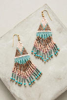 Anthropologie Beaded Tanager Drop Earrings