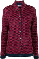 Prada patterned knitted shirt