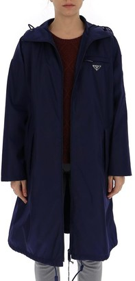 Prada Garbardine Hooded Raincoat
