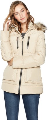Haven Girl Women's Zip-Front A-line Parka Puffer