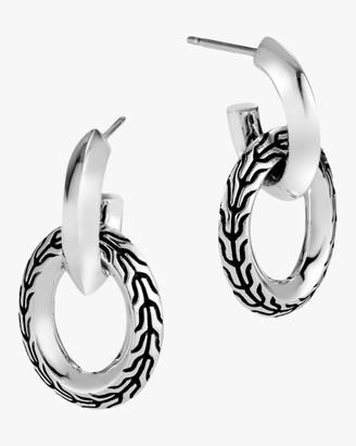 John Hardy Classic Chain Knife Edge Door Knocker Earrings