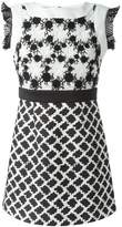 Ungaro floral crochet top dress