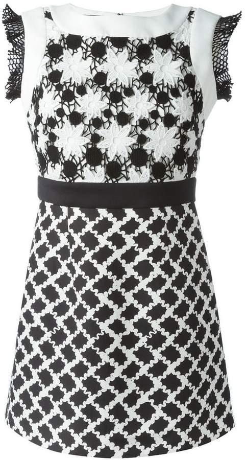Ungaro floral crochet top dress