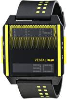 Vestal Men's DIG031 Digichord Digital Display Watch with Yellow and Black Band