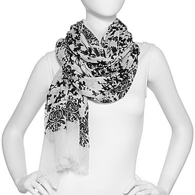 JCPenney Floral and Paisley Scarf