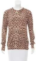 Equipment Leopard Print Knit Sweater