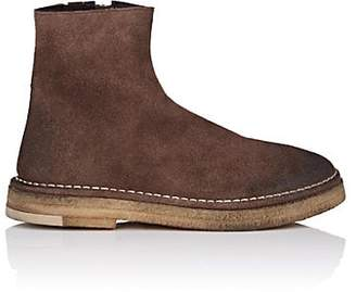 Marsèll Women's Crepe-Sole Distressed Suede Ankle Boots - Brown