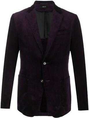 Ermenegildo Zegna Peak-Lapel Single-Breasted Blazer Jacket
