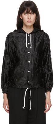 COMME DES GARÇONS GIRL Black Embroidery Detail Coach Jacket
