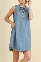 Umgee USA Frayed Denim Dress