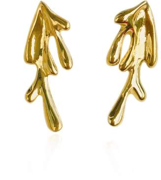 Orman Algae Small Earrings Gold