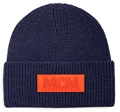 MCM Logo Patch Merino Wool Beanie