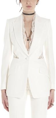 Alexander McQueen Lace Insert Blazer