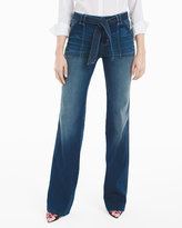 White House Black Market Curvy Tie Waist Trouser Jeans