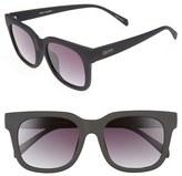 Quay Women's Libre 53Mm Square Sunglasses - Black/ Smoke