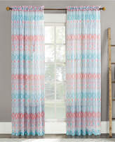 "Lichtenberg No. 918 Vernell 59"" x 63"" Geometric-Print Sheer Voile Rod Pocket Curtain Panel"