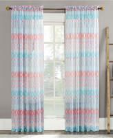 "Lichtenberg No. 918 Vernell 59"" x 84"" Geometric-Print Sheer Voile Rod Pocket Curtain Panel"