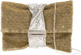Jimmy Choo Chandra clutch - women - Metal (Other)/Metallized Polyester - One Size