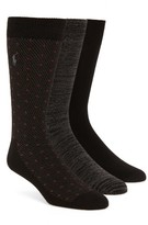 Polo Ralph Lauren Men's Supersoft Diamond Dot Assorted 3-Pack Socks