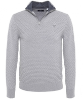 Cotton Textured Half-zip Jumper