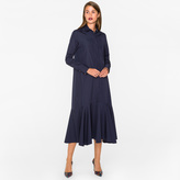Paul Smith Women's Navy Cotton Long Shirt-Dress