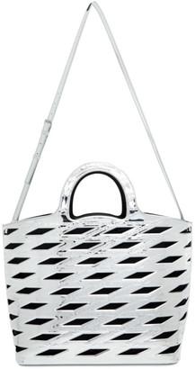 Balenciaga Silver Metallic Neo Basket Tote