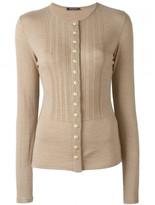 Balmain buttoned ribbed knit top