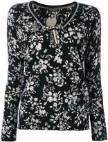 Twin-Set floral v-neck sweater