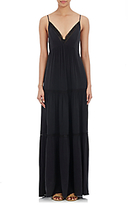 L'Agence Women's Abby Maxi Dress-BLACK, BLUE