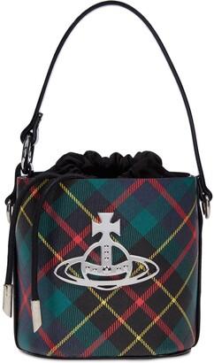 Vivienne Westwood Betty Small Tartan Bucket Bag