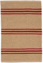 Dash & Albert Lexington Rug - Camel / Red - 91 x 152 cm