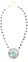 Ela Rae Emerald Pendant Necklace