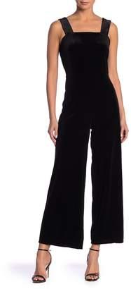 Kensie Velvet Wide Leg Jumpsuit