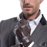 Matsu Gloves MATSU Men Winter Super Warm Lambksin Leather Wool lined Gloves M1016