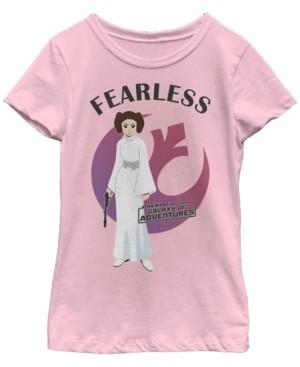 Fifth Sun Star Wars Big Girl's Galaxy of Adventures Leia Fearless G1P Short Sleeve T-Shirt